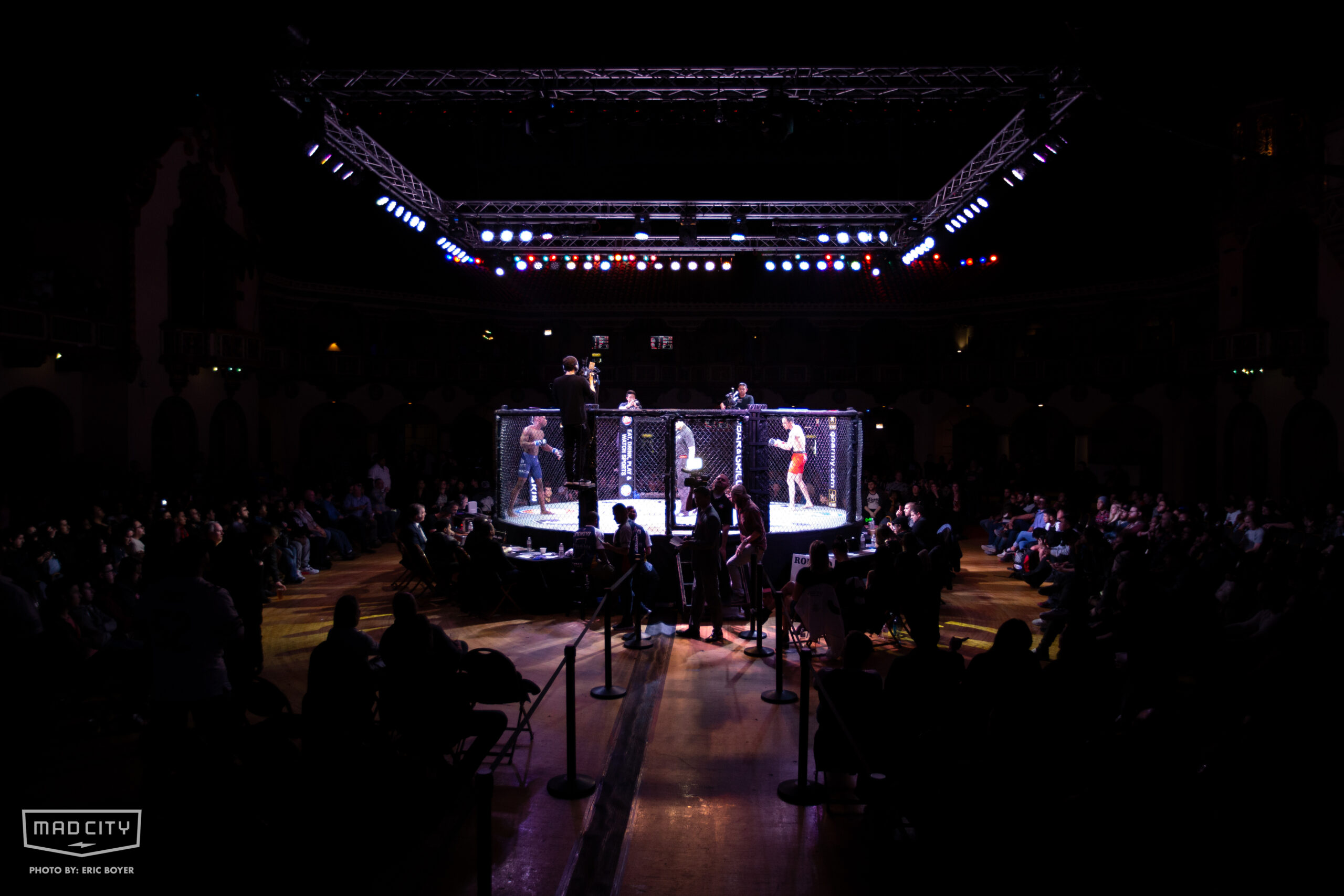 MMA Ring at Aragon Ballroom